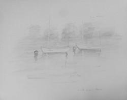 Sailboats on Dart river 3