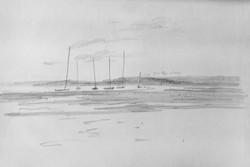 Sailboats near Isle of Wight