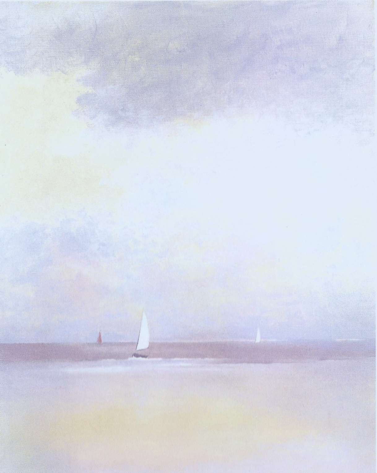 Sailboats on shore