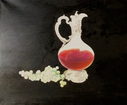Ewer and grapes