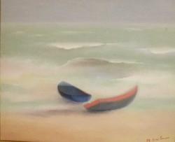 Barques Bleue et rouge