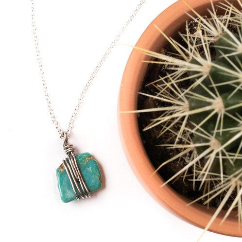 The Everyday Single Turquoise Gemstone Necklace
