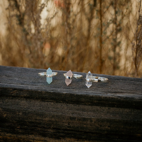 Crystal Point Adjustable Rings