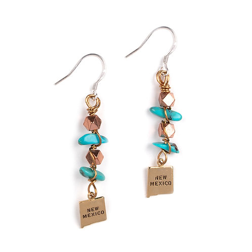 New Mexico Long Dangle Earrings 4