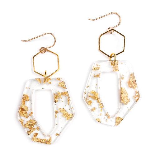 Golden Trapezoid Earrings