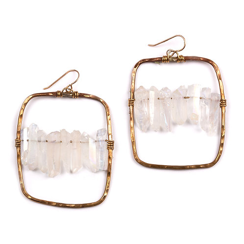 Quartz Statement Earrings