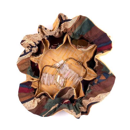 Upcycled Jewelry Travel Bag-Sunshine