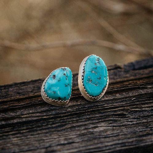 One of Kind Turquoise Studs - Sisters not Twins : )
