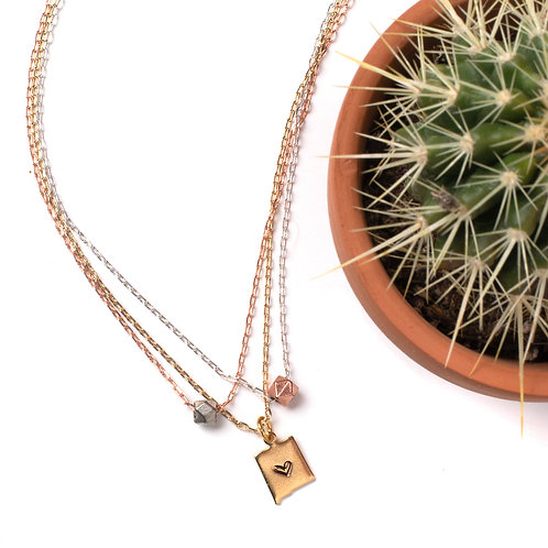 New Mexico Mixed Metal Necklace