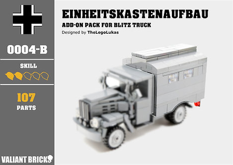 Einheitskastenaufbau Add-On for Blitz Truck