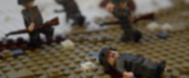 Lego WW2 scene: wounded German soldier