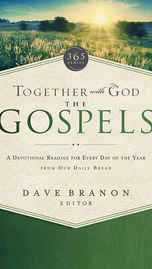 """£17.99 - Matthew, Mark, Luke, John—we refer to these New Testament books as the Gospels because they share the """"good news"""" of Jesus coming to earth to live and die for us, so we could be redeemed. This message is foundational to our faith, and Together with God: The Gospels provides daily devotionals that help you to reflect on that. Each of the 365 meditations in Together with God: The Gospels features a short story, an inspiring thought, and a Scripture from the Gospels. This inspirational collection from trusted Our Daily Bread writers helps connect you to God each day, to thank Him for His redeeming love."""