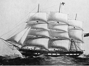 Suffolk sail boat in Azores - 1881
