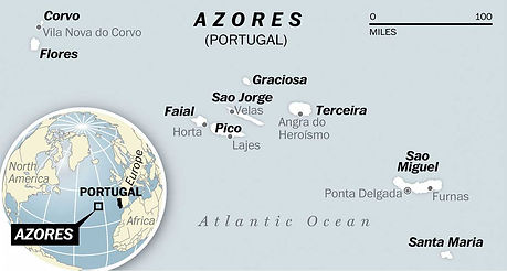 map of the azores