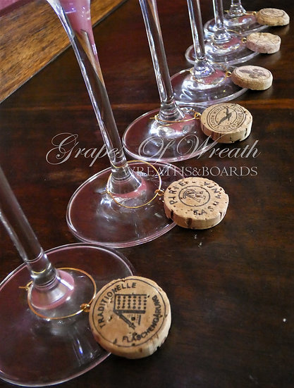 Wine Charms - Illustrated