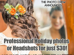 Professional Portraits for just $30!