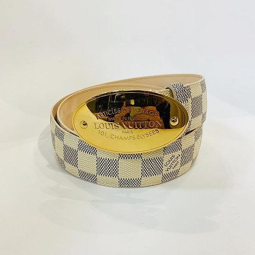 Cinto Louis Vuitton Damier Azur tam. 85/34