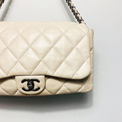 Bolsa Chanel Flap Off White