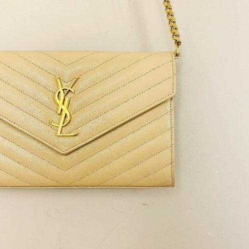 Bolsa Yves Saint Laurent Creme