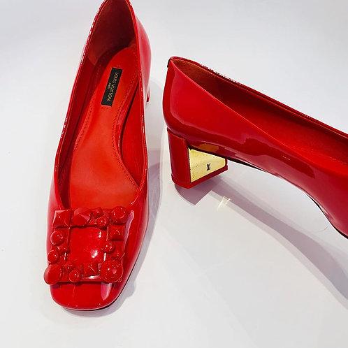 Sapato Louis Vuitton Verniz Vermelho tam. 38