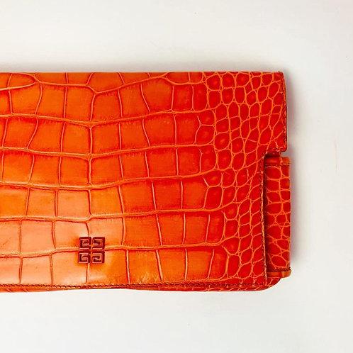 Bolsa Clutch Givenchy Laranja