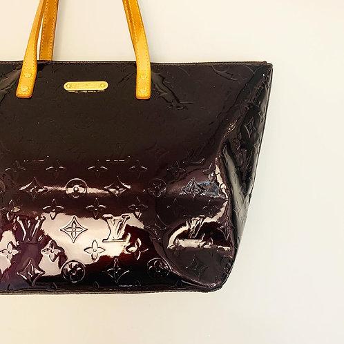 Bolsa Louis Vuitton Bellevue Rouge Fauviste Verniz Beringela
