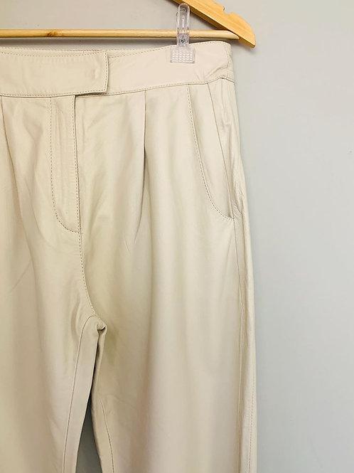 Pantalona Minimale Couro Off White tam. 38