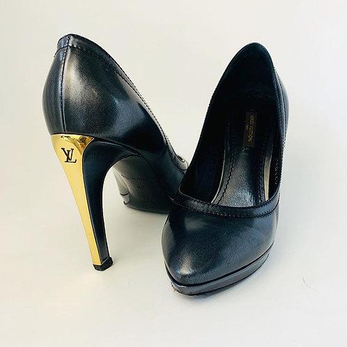 Sapato Louis Vuitton Couro Chumbo tam. 34