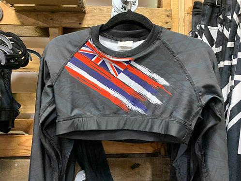 Crop top long sleeve flag design