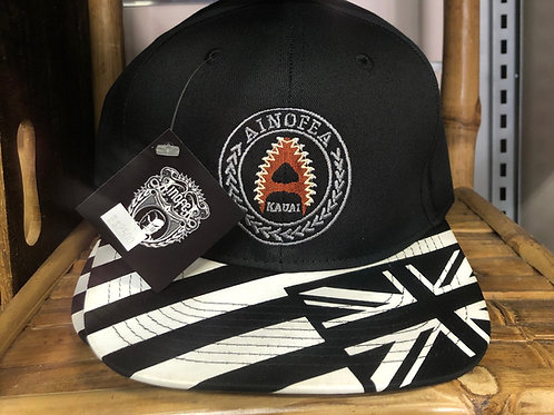 Black and white Flag bill cap