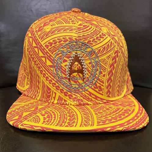yellow-red tattoo cap