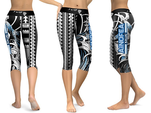 Wave design- Capri Compression pants