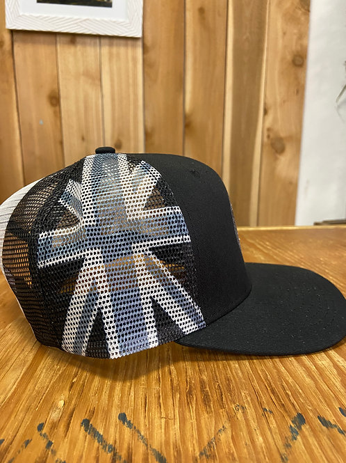 Black and White State flag cap