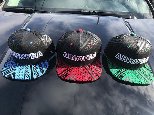 Ainofea embroidered bill snap back caps