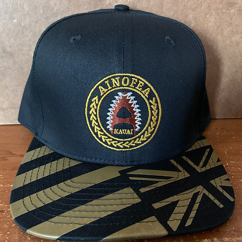 Black and Gold Flag bill cap