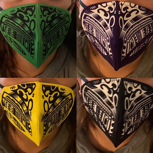 Colored tribal design mask
