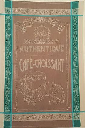 Teatowel - Authentique Cafe-Croissant