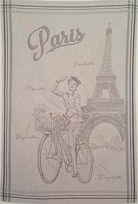 Teatowel - Cycling in Paris (Grey)