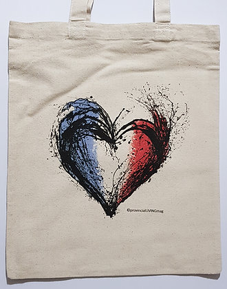 Tote Bag - Tricolor Heart