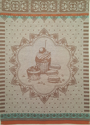 Teatowel- Dotty Cup Cakes