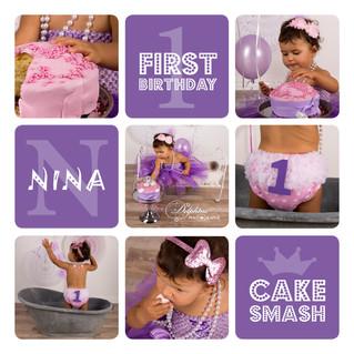 """Smash the cake"" ou ""ma première bougie"""