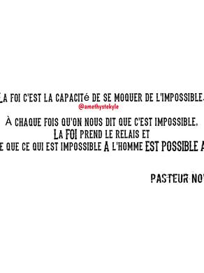 🙄Qui a touché mes vêtements?🤔 Notes extrait de la prédication du Pasteur Francis Novert a l'
