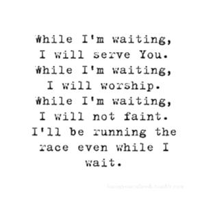 L'attente…