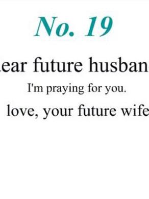 Cher futur époux