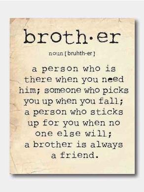 j'aime mes frères