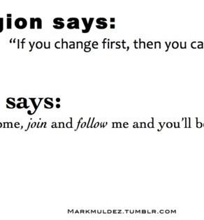 La religion ne sauve pas!
