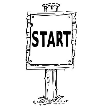 wooden-sign-board-drawing-of-start-text-
