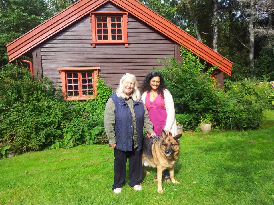 With Turid in Norway