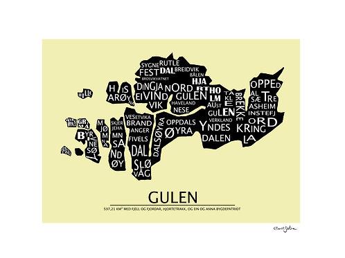 Grafisk kart Gulen