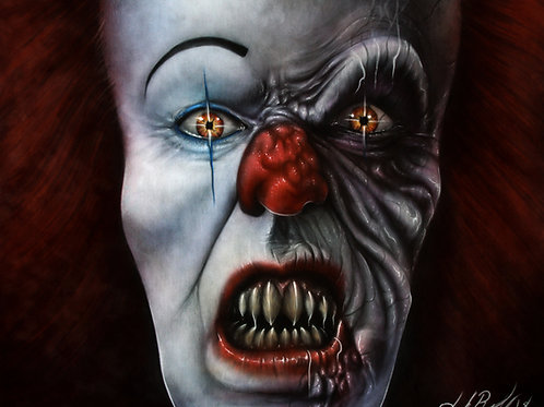 Tim Curry Pennywise Colour - PRINT